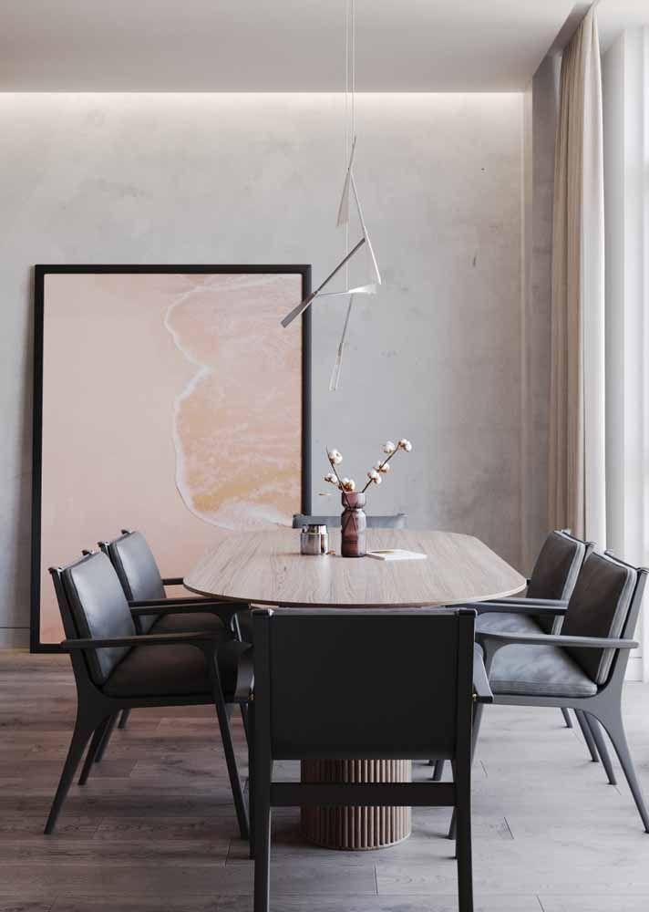 A mesa do escritório ficou mais charmosa e descontraída com o galhinho de dente de leão no vaso solitário