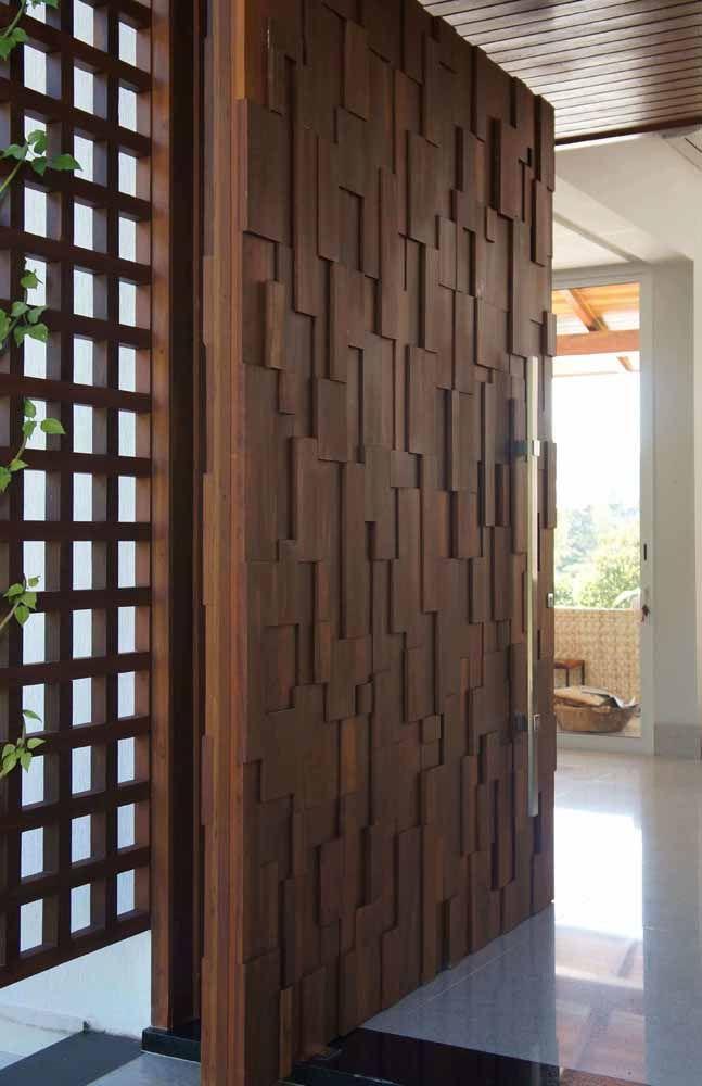 Portas De Madeira Veja 60 Modelos Materiais E Dicas Com Fotos