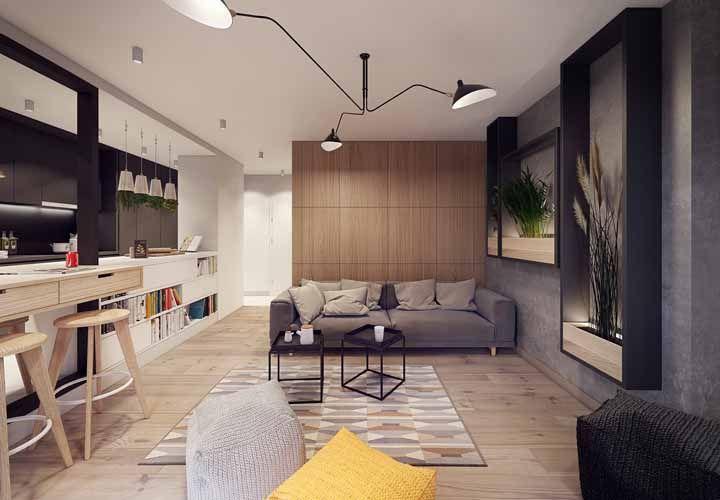 Em diferentes tons, o piso vinilico combina com propostas variadas de decoração
