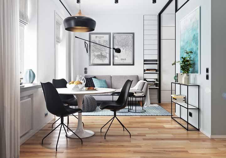 Seja qual for o estilo da sua casa, o piso de madeira combina