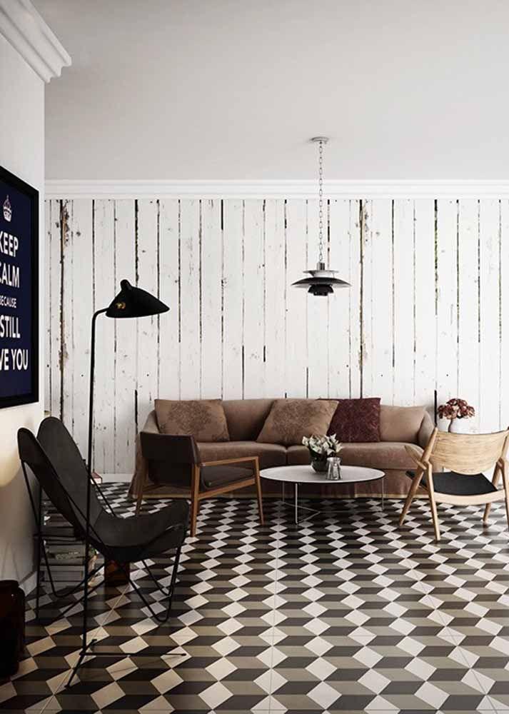 O que acha de um efeito mais moderno para o piso cerâmico?
