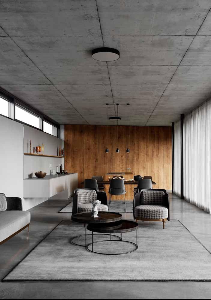 Cimento queimado e concreto aparente: uma dupla cinzenta que não deixa a desejar