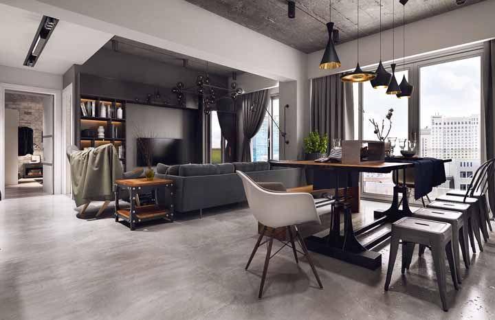 Um único ambiente, um único piso