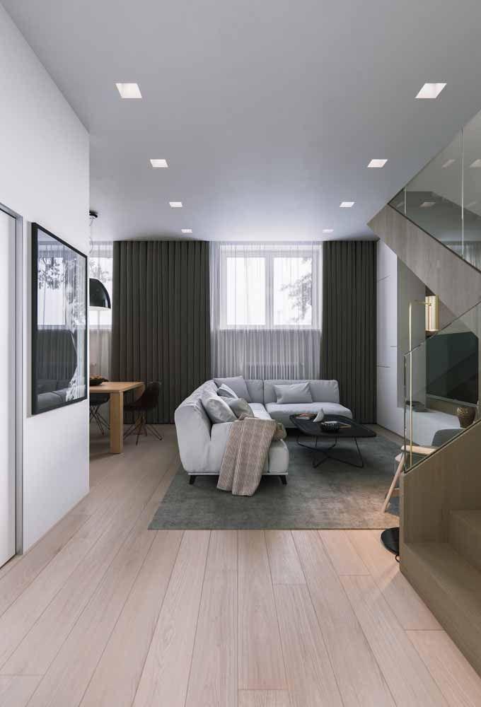 Piso laminado é aconchegante, confortável e convidativo: ideal para salas de estar