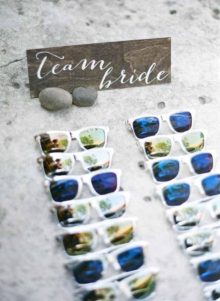 Óculos de sol para as amigas da noiva