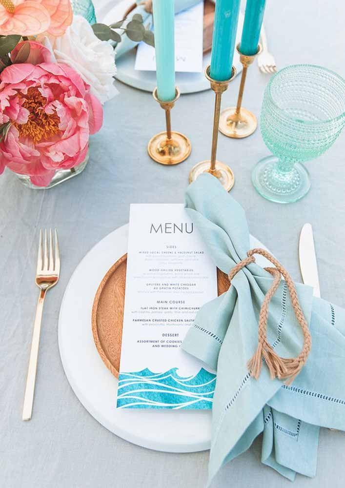 Não se esqueça do menu! Apresente-o de modo especial