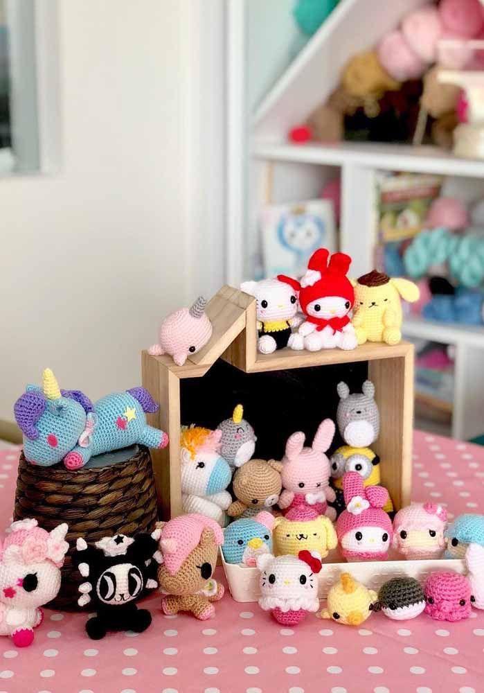 Kit para decoração de quarto de bebê Amigurumi 06 itens no Elo7 ... | 1000x699