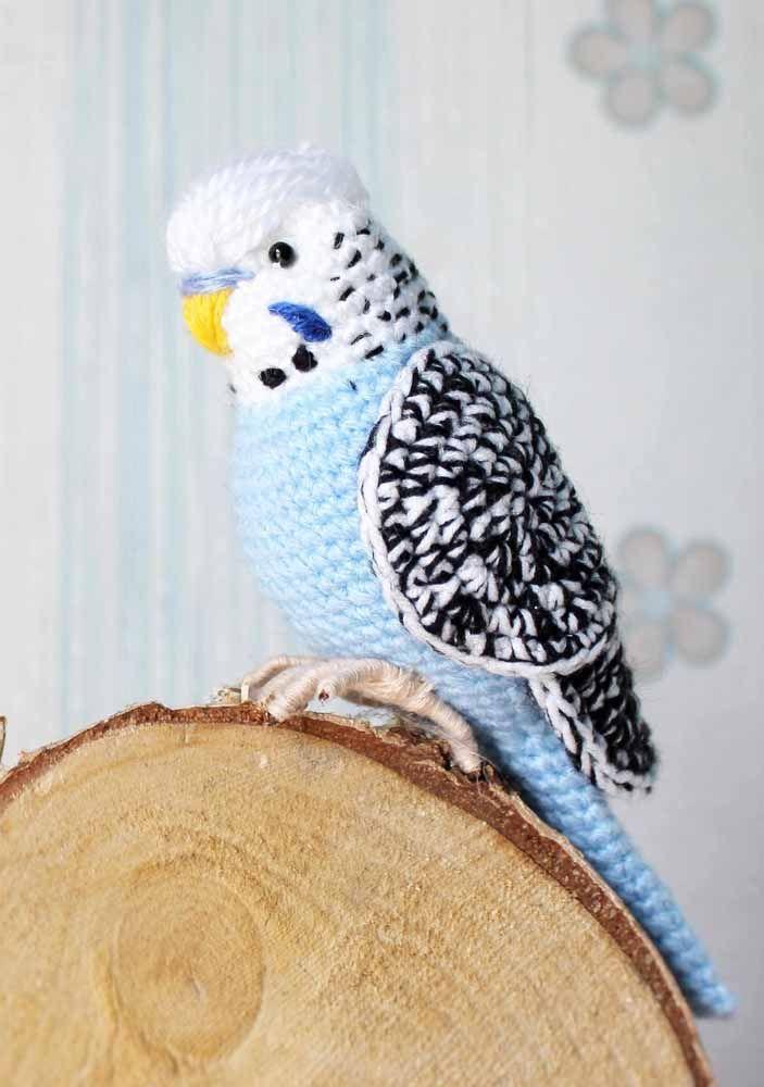 Pássaro amigurumi: parece de verdade!