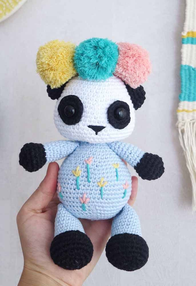 MADE to ORDER Amigurumi Panda Bear White and White Kindle | Etsy | 1000x686