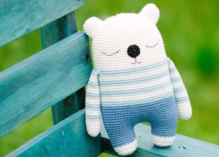 Urso Panda Receita de Amigurumi de Crochê por Little Bear Crochets | 517x720