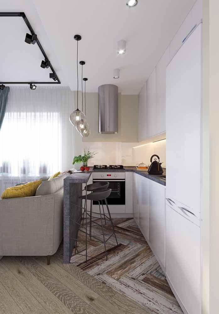 Coloque pisos diferentes para dividir os espaços