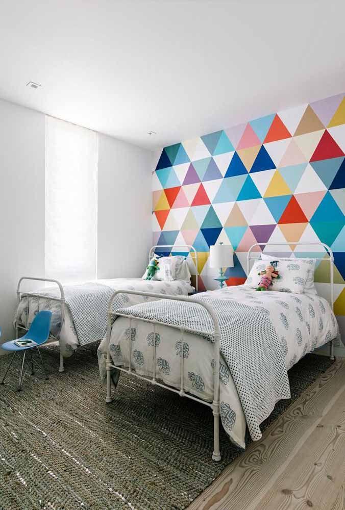Parece ou não parece um patchwork na parede?