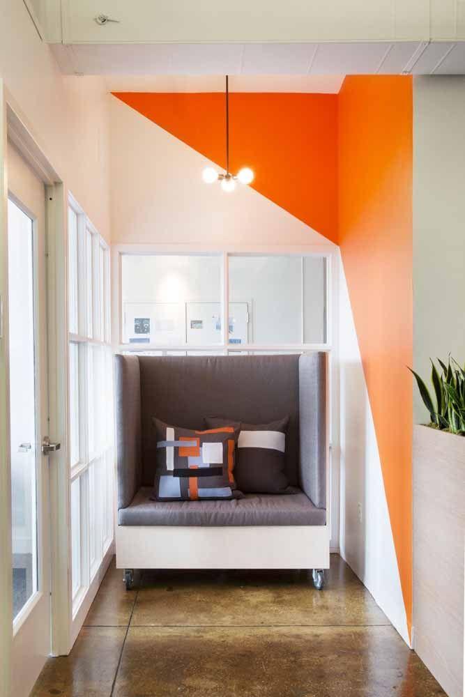 Qualquer cantinho da casa pode se beneficiar do efeito dinâmico das paredes geométricas