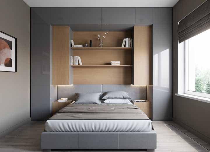 Guarda roupa com cama embutida: a solução para quartos pequenos