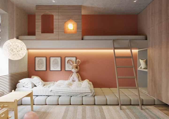 O quartinho Montessori também contou com a presença de móveis sob medidas