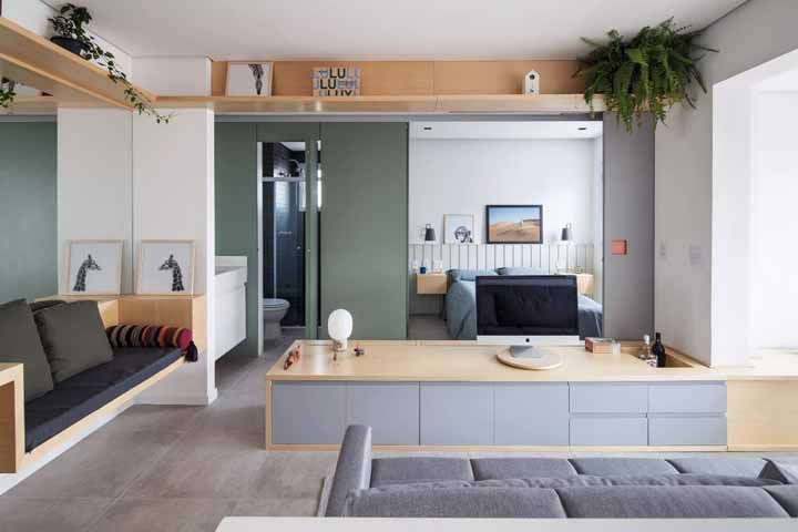 Do chão até o teto: os móveis sob medida permitem que você aproveite cada cantinho do ambiente