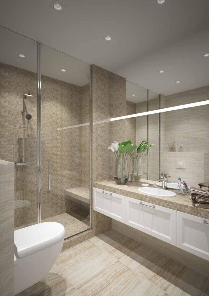 Como deixar o banheiro mais elegante? Usando um vaso com flores de lírios
