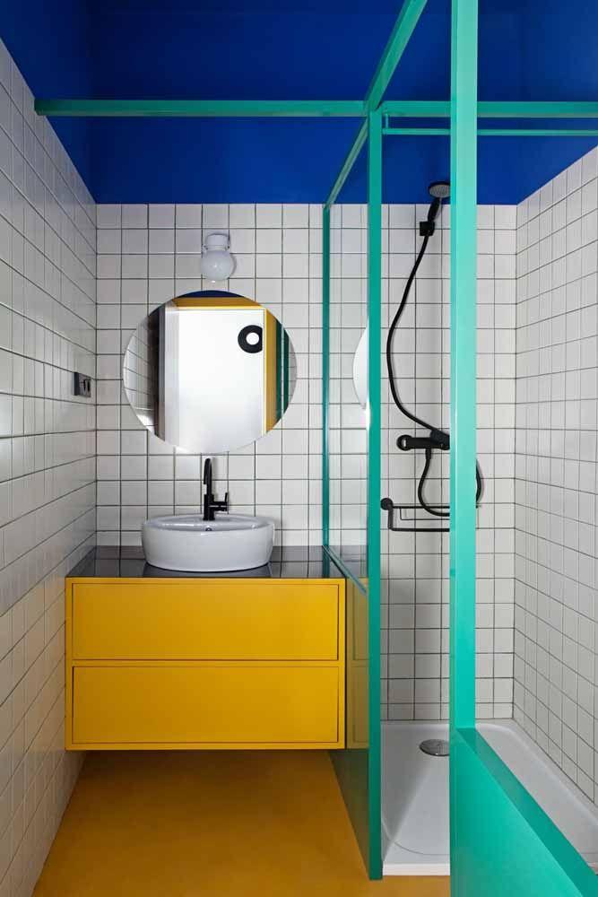 No banheiro, a resina epóxi pode ser usada sem medo, já que é totalmente impermeável