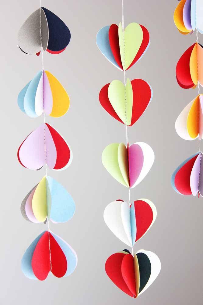 Na cortina de coração 3D você define quantas partes terá o coração
