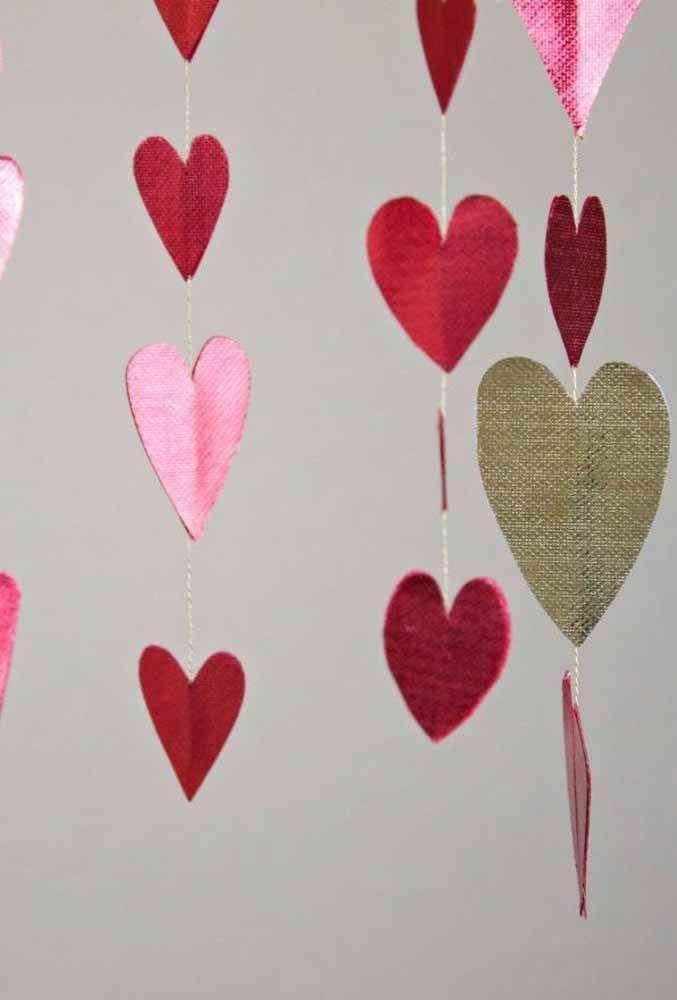 Lembre-se de deixar frente e verso dos corações iguais