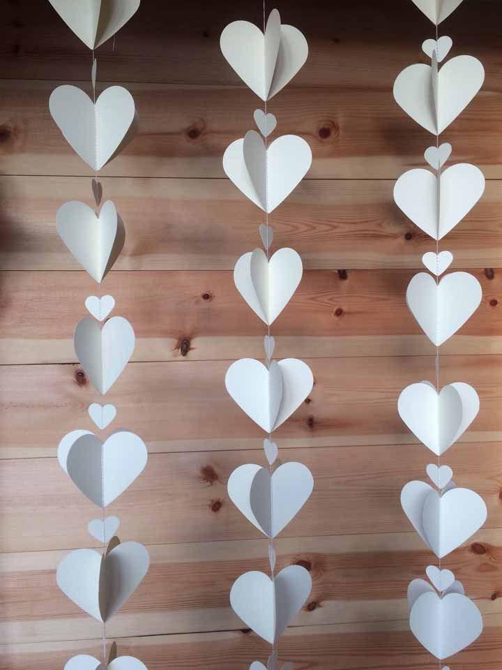 Corações brancos: tem como ser mais simples e elegante do que isso?