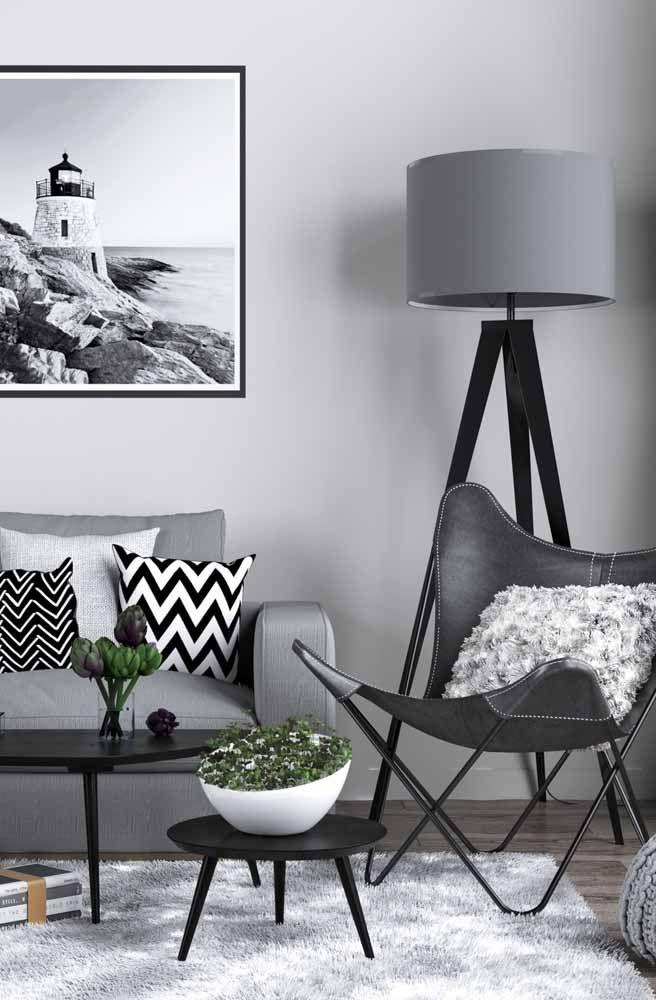 Decoração hygge em preto e branco