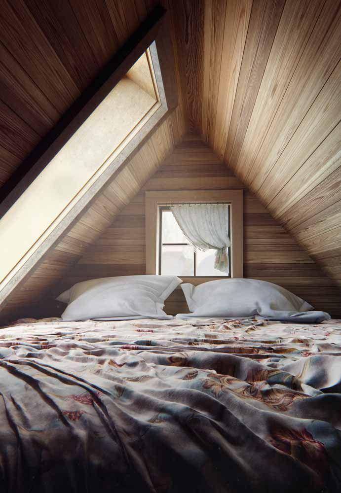 Luz, madeira e uma cama macia e quentinha