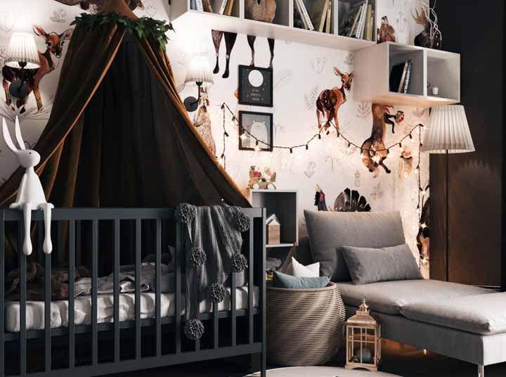 """A cor marrom """"aquece"""" o quarto do bebê"""