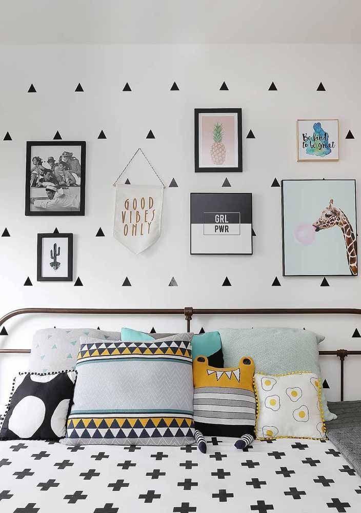 O estilo escandinavo casa perfeitamente com as paredes brancas