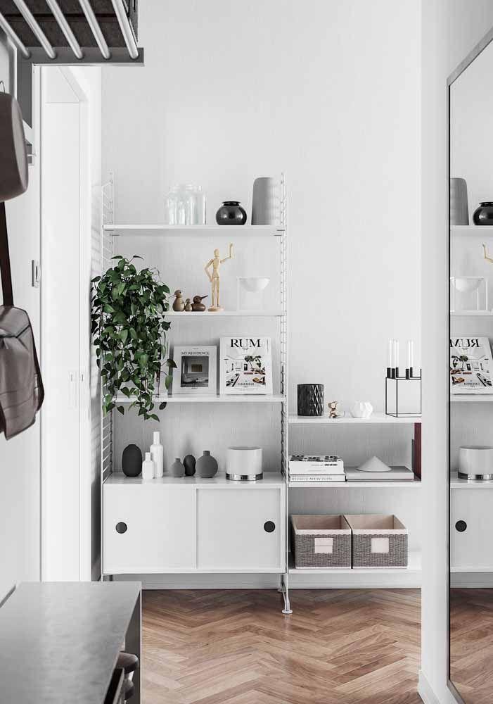 Uma inspiração para os apaixonados por decoração clean
