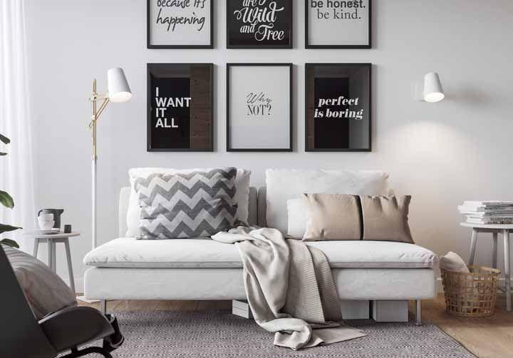 O branco e o preto ainda são a melhor combinação para quem tem medo e dúvidas na hora de decorar