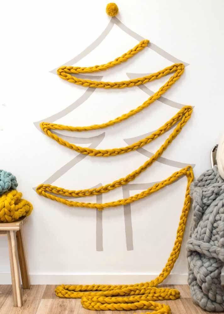 Olha que sensacional essa árvore feita de corda