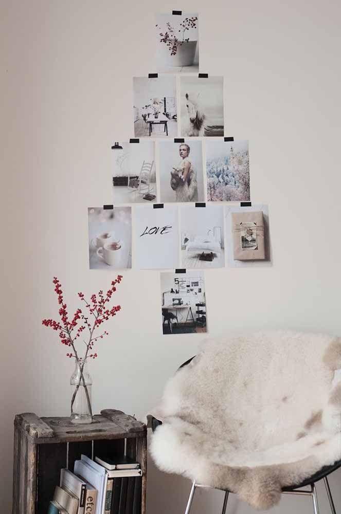 Faça uma montagem de fotos no formato de uma árvore de natal A árvore de natal é um dos principais símbolos da festa natalina. Por isso, siga nossas dicas para decorá-la da melhor forma possível e se inspire com as ideias que compartilhamos neste post.