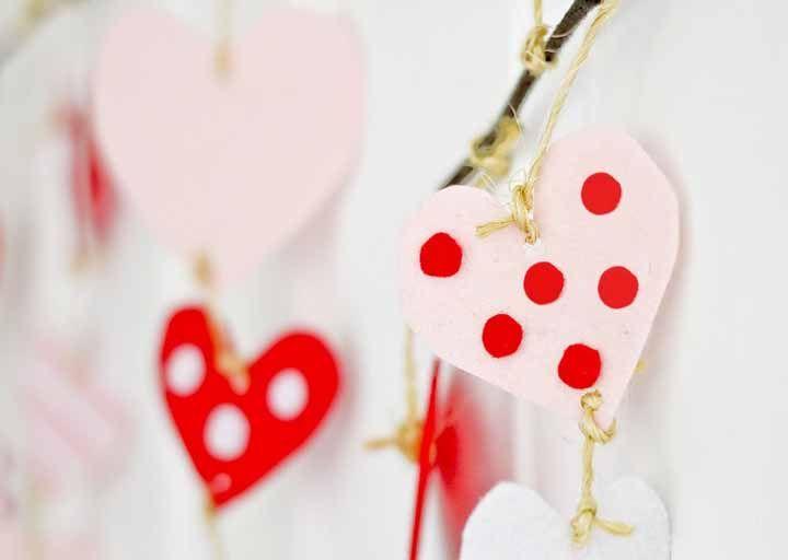 Cortina de coração: ideias e tutoriais para você se inspirar