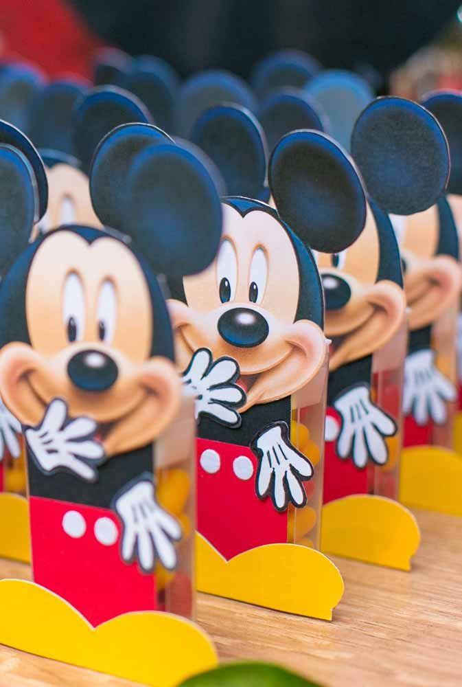 O Mickey tem que ser o rei da festa até nas lembrancinhas