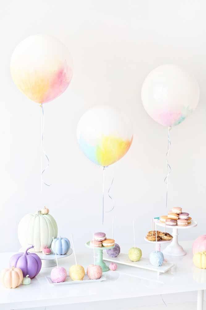 A delicadeza dos tons pastéis em uma festa de...Halloween? Aqui é essa a proposta