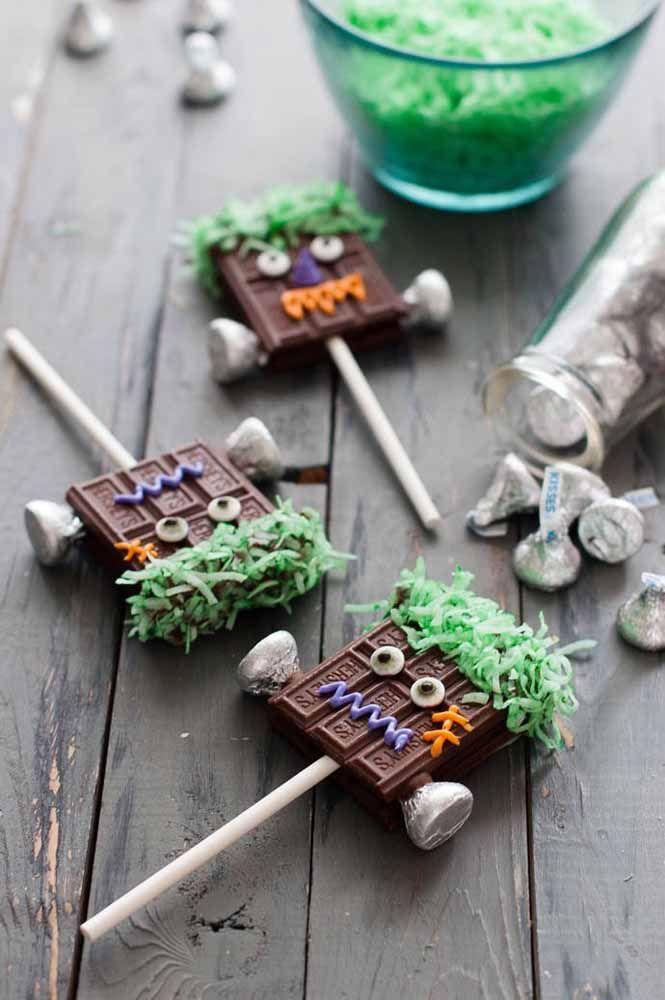 Chocolates Frankenstein: muito simpático eles, não acha?