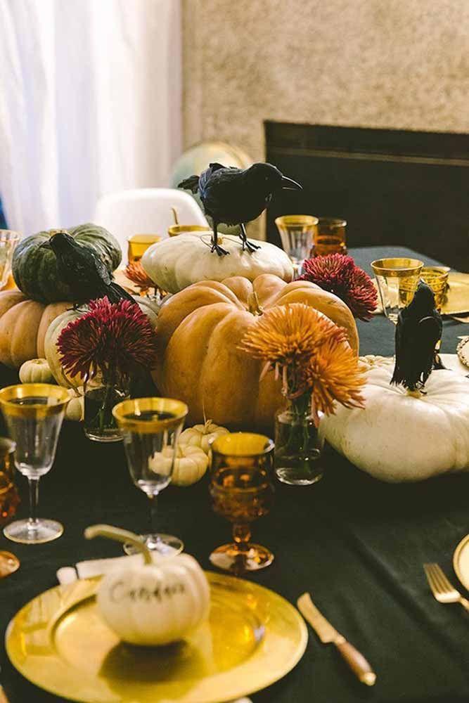 Uma decoração de Halloween bem realista