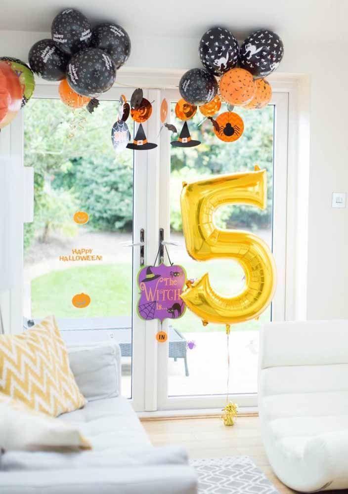 Quando o Halloween vira tema de festa, o aniversário fica assim
