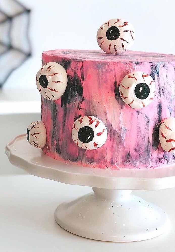 Um bolo horripilante!