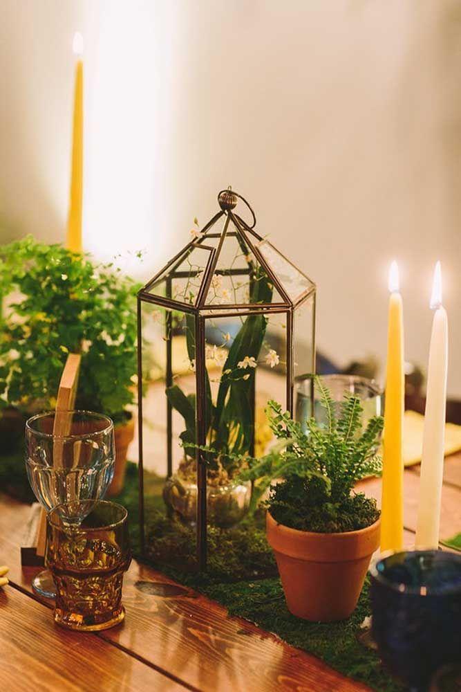 Já para uma comemoração intimista, não se esqueça de usar velas