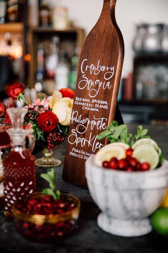 Drinks e bebidas especiais para comemorar as bodas de casamento