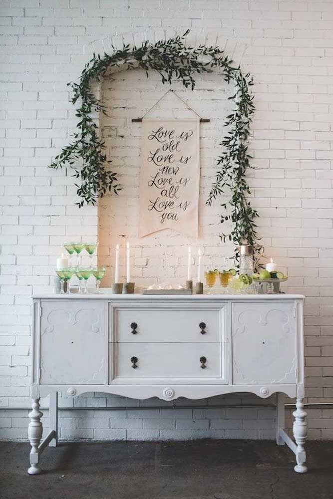 Uma mensagem especial na parede exaltando o amor
