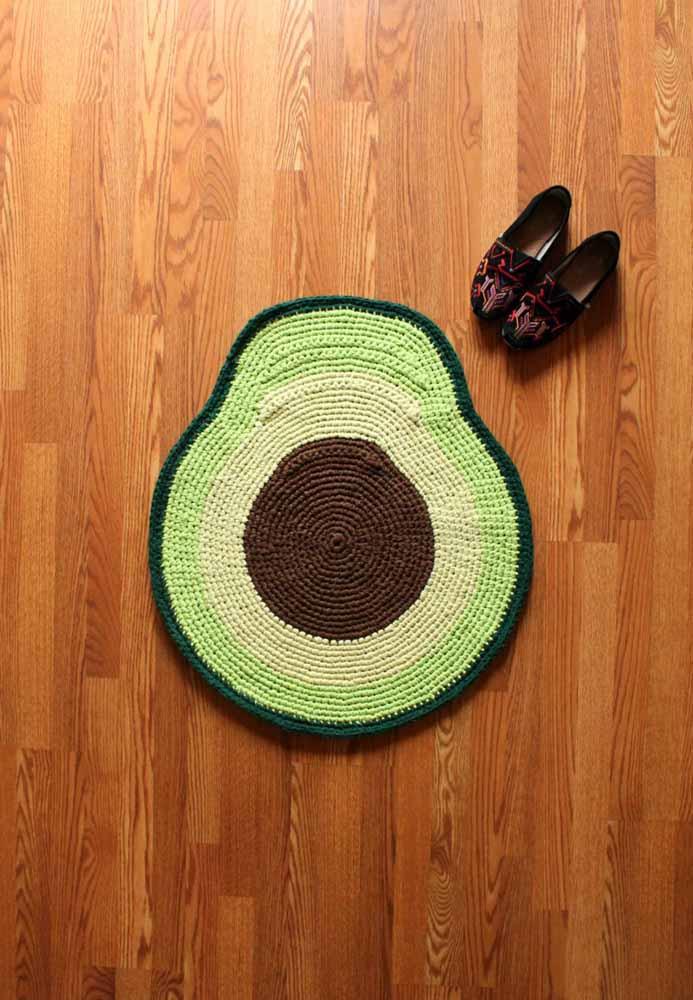 Um tapete abacate para deixar na porta da cozinha