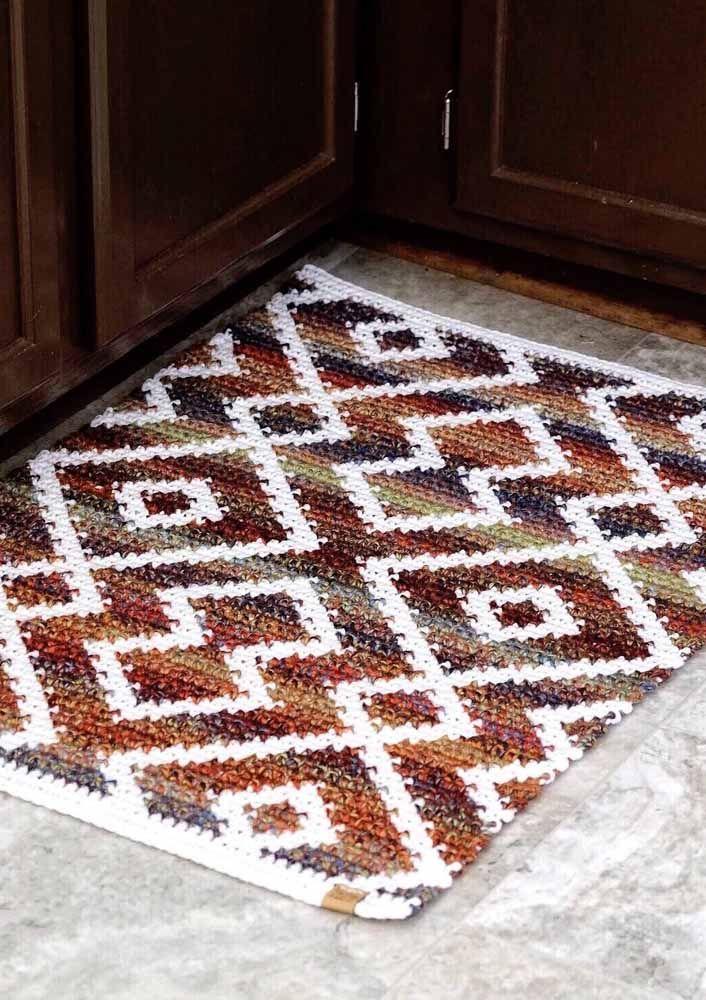 Zigue zague para valorizar o chão da cozinha