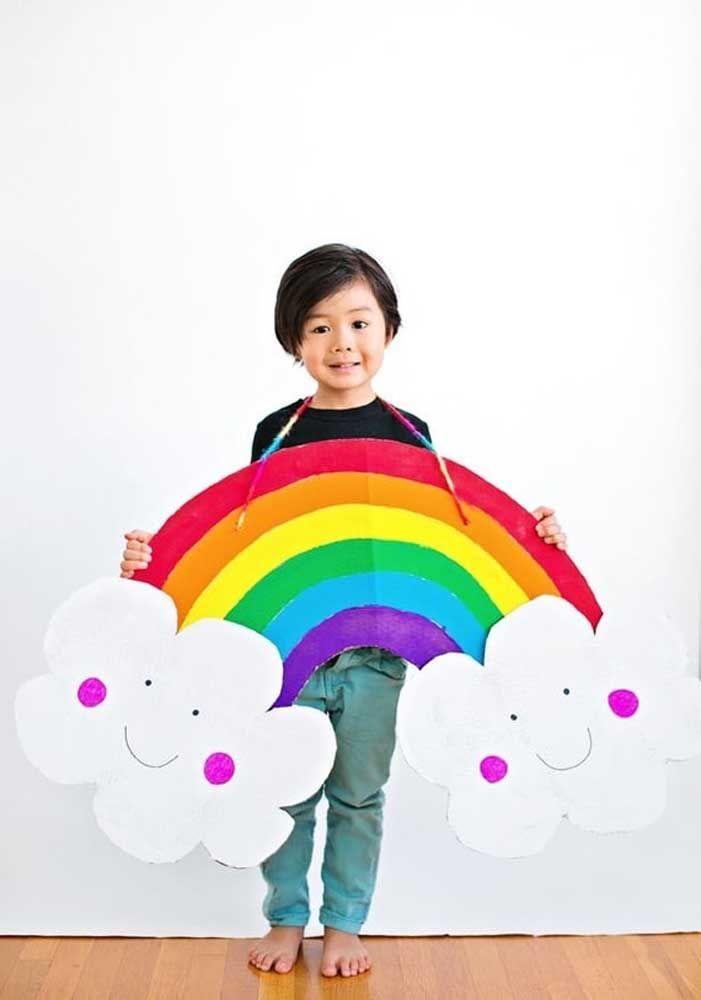 O tema é arco íris