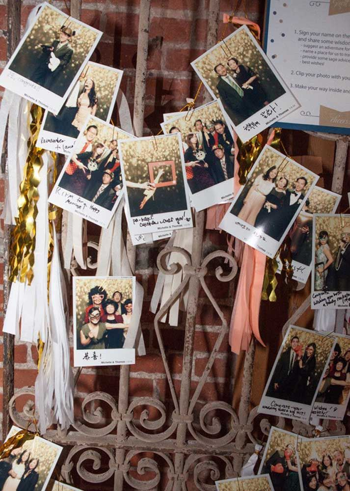 Que tal uma máquina de fotos instantânea para seus convidados eternizarem a festa?