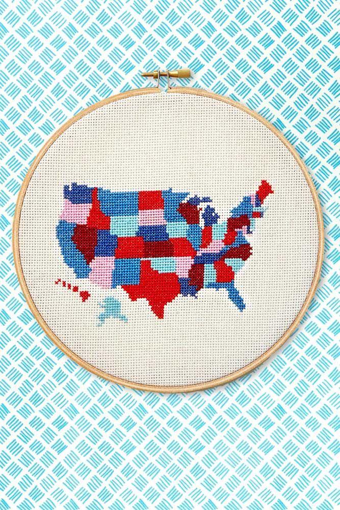 O mapa dos Estados Unidos feito de uma forma bem diferente