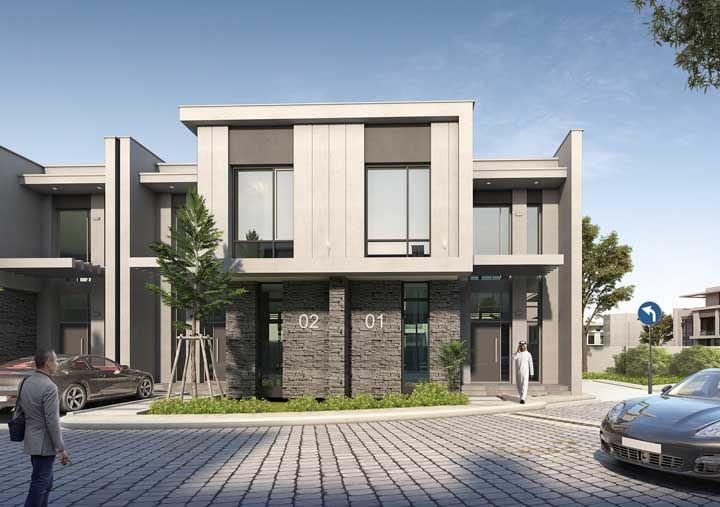 O condomínio de casas apostou em fachadas iguais