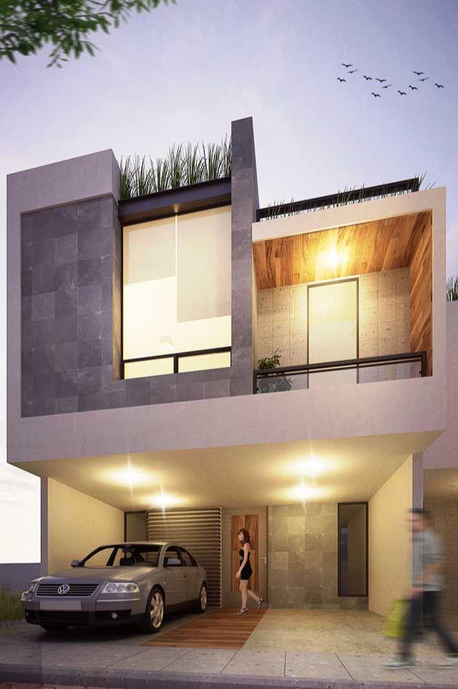 Um projeto de iluminação externa também é importante para valorizar a fachada da casa